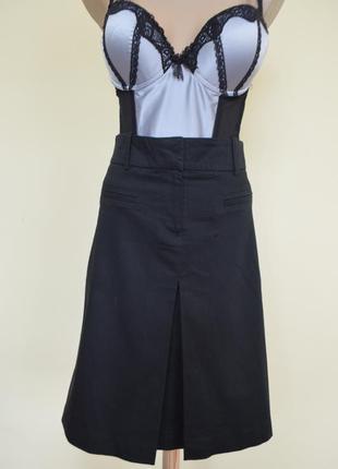 Супер юбка классическая черная zara