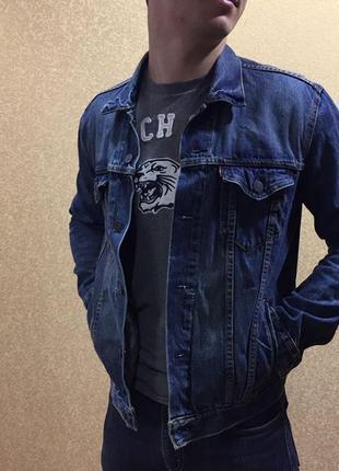 Джинсовая куртка levi's. мужская джинсовка шерпа levis. оригинальная куртка левайс