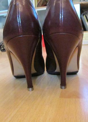 Туфли на шпильке gabor 36/22,5см по стельке цвет бордо, гладкая кожа