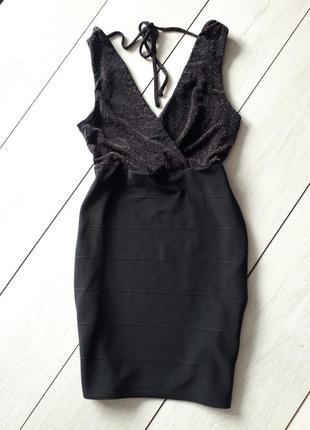 Бандажное платье с люрексовой нитью