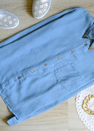 Сорочка джинсова з воротнічком select