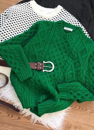 Грубий масивний светрик сочного зеленого кольору!