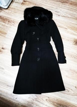 Пальто зима, шерсть, кашемир 44р.