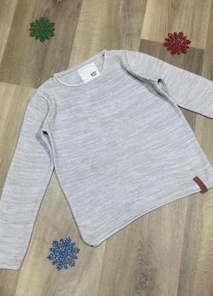 Хлопковый вязанный свитерок,на рост 130 см.описание!