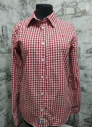 Супер стильная красная  рубашка в клетку