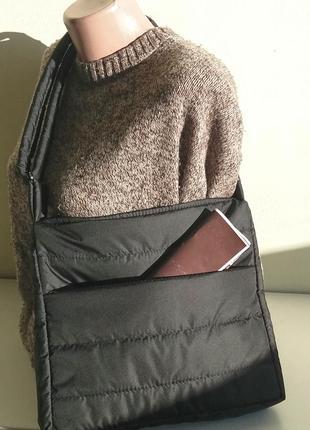 Планшет сумка дутик на плечо через плечо демисезонный легкий унисекс