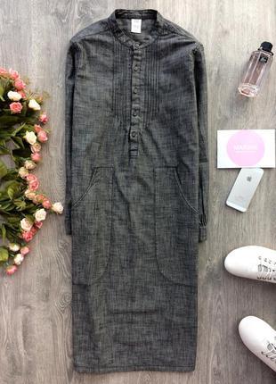 Крутое платье-рубашка миди с большими карманами gap, размер s-m(см.замеры)
