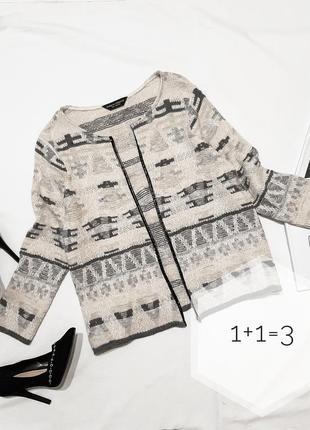 Dp стильный блейзер m укороченный бежевый жакет пиджак кардиган кофта кофточка