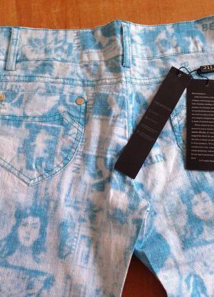 Летние коттоновые брючки, джинсы с принтом
