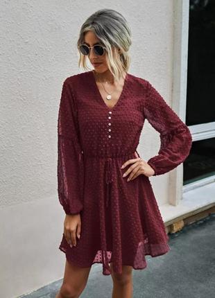 Нарядное платье с рукавами-фонариками