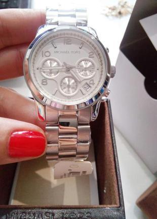 Часы michael kors  runway mk5076 silver chronograph оригинал