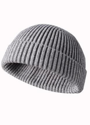 16 шапка короткая вязаная - унисекс