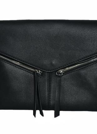 Женская черная сумочка-конверт parfois. код п39481
