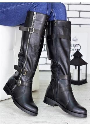 Сапоги кожаные аделия 7169-28