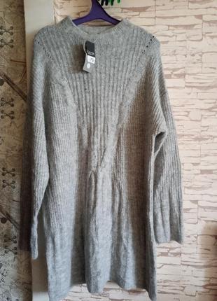 Теплый легкий удлиненный свитер george ❄️