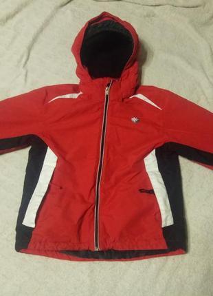 Лыжная куртка зимняя теплая