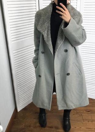 Вінтажне люксове пальто, шерсть меріноса/ангора/кашемір. hensel und mortensen