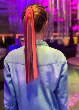 Шелковая резиночка для волос grace, украинского бренда, ручная работа, разные цвета