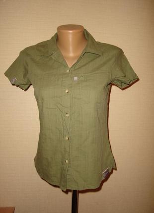 Хлопчатая рубашка berghaus, оригинал, с серийным номером, размер 8 (s)