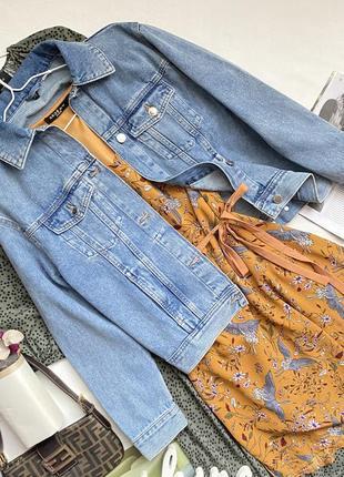 Оверсайз голубая джинсовка от h&m