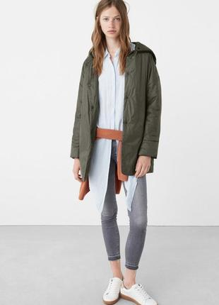 Куртка mango andrea цвета хаки