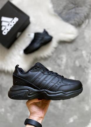 Оригинал! кожаные мужские кроссовки adidas originals strutter wide