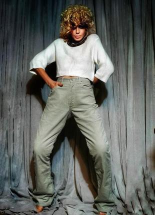 Брюки штаны g-star вельветовые высокая посадка прямые мужские