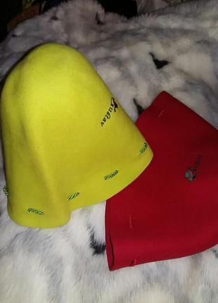 Натуральные войлочные шляпы  для сауны. швейцария