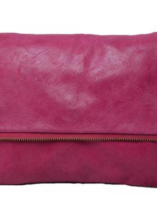 Натуральная замша. замшевая женская розовая сумочка. код 38962