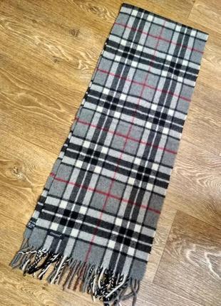 Шерстяной брендовый итальянский шарф essentiel