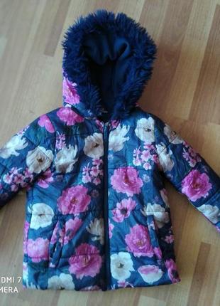 Куртка демисезона в квіти для дівчинки