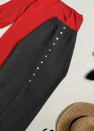 Вязаная юбка миди с пуговицами primark размер с