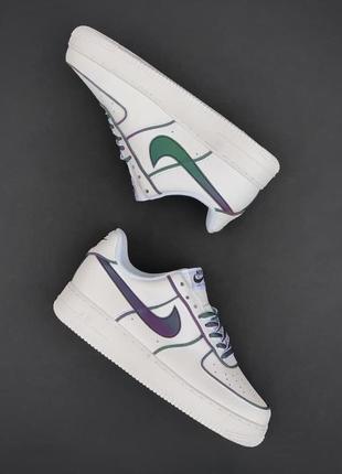 Мужские кроссовки nike air force 1 white/chameleon