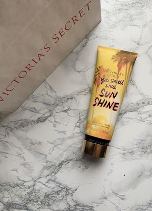 Парфюмированный лосьон для тела  you smell like sunshine victoria's secret