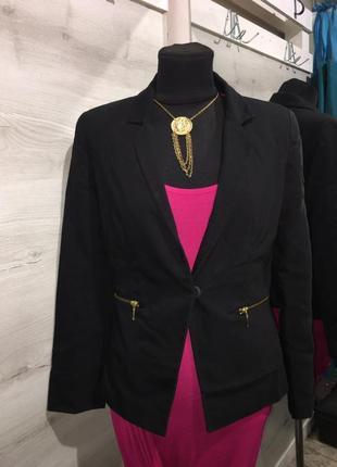 Черный пиджак жакет
