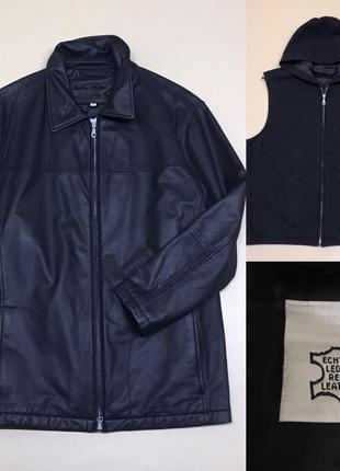 Кожаная утеплённая куртка  2в1