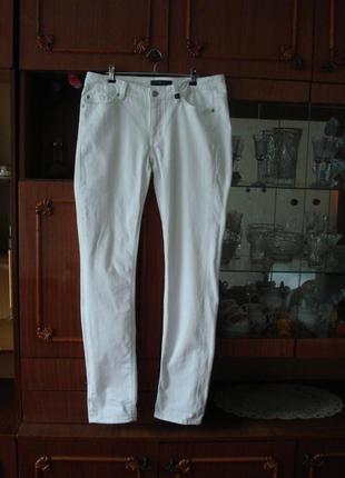 31-32 р. оригинал фирменные белоснежные штаны/скини yessica/denim jeans
