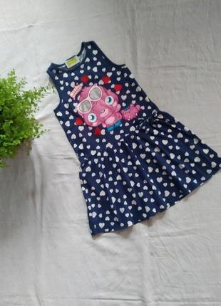 Детское хлопковое платье moshi monsters бренда tu uk 8 eur 128