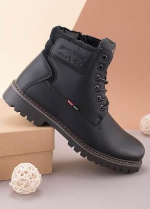 Мужские черные зимние ботинки, цвета чёрного. размер 40, 41, 42, 43, 44, 45
