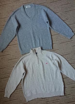 Супер мягкий пуловер, теплый свитер с  v-образным вырезом, 100%кашемир, стиль casual