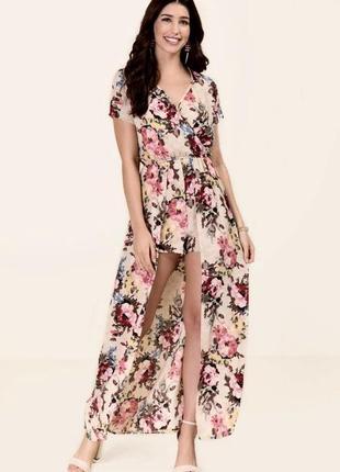 Sale! длинное платье ромпер