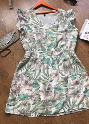 Супер платье в цветы mango