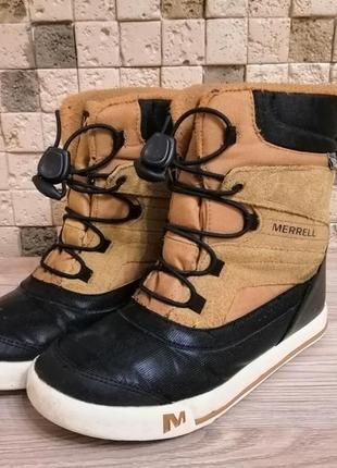 Термо мембранные ботинки merrel snow bank