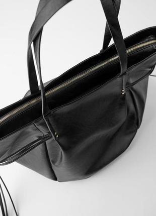 Моднявая вместительная сумка шоппер,zara,оригинал,в наличии