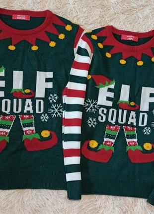 Family look новорічний светр реглан новогодний свитер