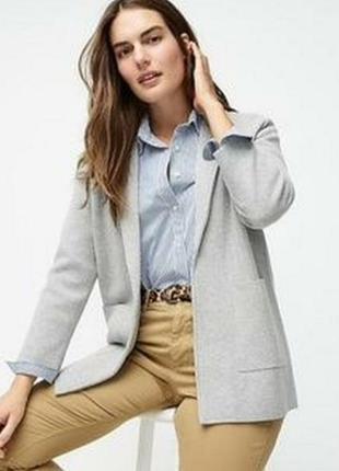 Теплий стильний кардиган котоновий піджак з кишенями  j.crew