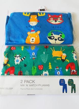 Пижамки 2 шт. в уп., dunnes, англия. размеры 6-12,12-18,18-24 мес.
