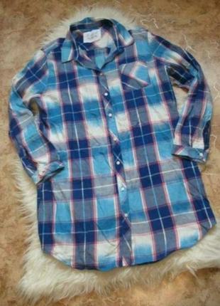 Хлопковое платье-рубашка для сна f&f