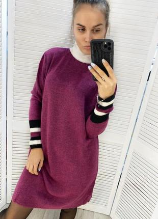 Теплое плаття туника женская