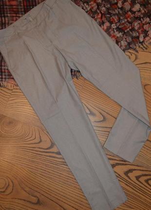 Стильные женские брюки h&m серые в мелкую клетку, размер eu 40